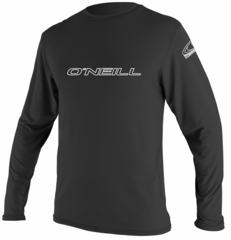 O'Neill Basic Skins Long Sleeve Rash Tee Men's Rashguard 50+ UV Protection  - Black