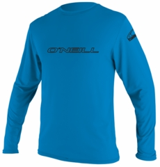O'Neill Basic Skins Long Sleeve Rash Tee Men's Rashguard - Blue