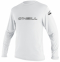 O'Neill Basic Skins Long Sleeve Rash Tee Men's Rashguard 50+ UV Protection - White