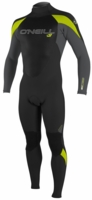 O'Neill Epic Wetsuit Junior 4/3mm Full Wetsuit Youth Unisex - Black/Lime