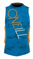 O'Neill Gooru Comp Wakeboard and Waterski Vest - BrightBlue/Orange Blaze