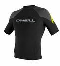 O'Neill Hammer Jacket Short Sleeve 1mm Crew Neoprene Jacket - Black/Grey