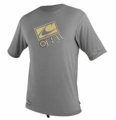 O'Neill Loose Fit Rashguard Tee Short Sleeve 50+ UV Protection - Metal