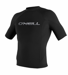 O'Neill Men's 1mm Hammer Short Sleeve Crew Neoprene Jacket - Black