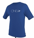 O'Neill Men's Loose Fit Rashguard Tee Men's Short Sleeve 50+ UV Protection - Blue