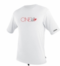 O'Neill Men's Loose Fit Rashguard Tee Men's Short Sleeve 50+ UV Protection - White