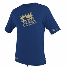 O'Neill Mens Loose Fit Rashguard Tee Men's Short Sleeve 50+ UV Protection - Blue
