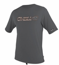 O'Neill Mens Loose Fit Rashguard Tee Men's Short Sleeve 50+ UV Protection - Metal