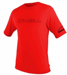 O'Neill Mens Rashguard Loose Fit Rash Tee 50+ UV Protection - Red