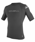 O'Neill Mens Skins Short Sleeve Rashguard 50+ UV Protection - GREY
