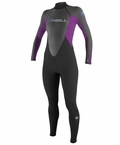 O'NEILL REACTOR 3/2 FULL WOMENS WETSUIT - GREY/IRIS