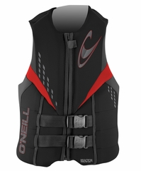 O'Neill Reactor 3 USCG Vest - Black/Graphite/Red
