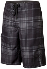 O'Neill Santa Cruz Plaid Boardshorts - Black