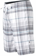 O'Neill Santa Cruz Plaid Boardshorts - White