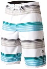 O'Neill Santa Cruz Stripe Men's Boardshorts - White