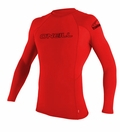 O'Neill Skins Long Sleeve Rashguard 50+ UV Protection - Red