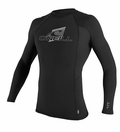 O'Neill Skins Rashguard Long Sleeve Crew 50+ UV Protection - Black
