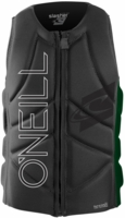 O'Neill Slasher Comp Wakeboard and Waterski Vest - Grey/Green