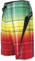 O'Neill Superfreak Triumph Boardshort -  Rasta - 4 Way Stretch!