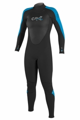 O'Neill Women's Epic 3/2mm Full Wetsuit - Black & Blue