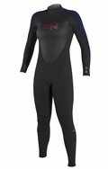 O'Neill Women's Epic 3/2mm Full Wetsuit - Black & Denim