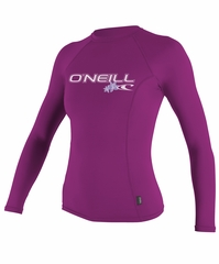 O'Neill Women's Long Sleeve Rashguard 50+ UV Protection - Fox Pink