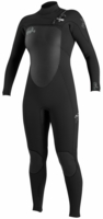 O'Neill Women's Superfreak 4/3mm Hooded Chest Zip Wetsuit Black