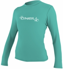 O'Neill Womens Basic Skins Long Sleeve Rash Tee Rashguard 50+ UV Protection