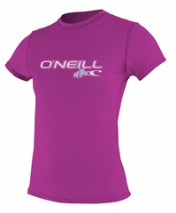 O'Neill Womens Rashguard Rash Tee 50+ UV Protection - Fox Pink