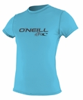 O'Neill Womens Rashguard Rash Tee 50+ UV Protection - Turquoise