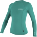 O'Neill Womens Skins Long Sleeve Crew Rashguard 50+ UV Protection - Aqua