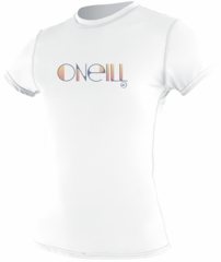 O'Neill Womens Skins Short Sleeve Rash Tee Rashguard 50+ UV Protection