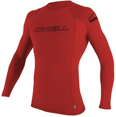 O'Neill Youth Skins Rashguard Long Sleeve 50+ UV Protection -Red