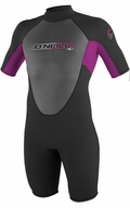Oneill�Reactor Springsuit Junior Wetsuit 2mm�Youth-Black/Pink
