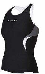 Orca Women's Core Support Singlet - Black/Castle Rock