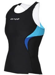 Orca Women's Core Support Singlet - Black/River Blue