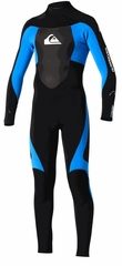 Quiksilver 3/2mm Syncro Flatlock Boys Wetsuit 3/2mm - Black & Blue