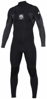 Quiksilver Iginte Chest Zip Wetsuit 4/3mm - Black/Grey