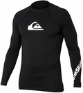 Quiksilver All Time Long Sleeve Men's Rashguard 50+ UV Protection - Black