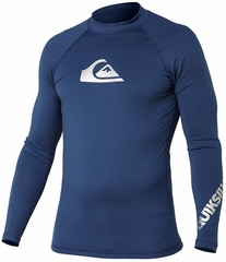 Quiksilver All Time Long Sleeve Men's Rashguard 50+ UV Protection - Navy