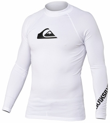 Quiksilver All Time Long Sleeve Men's Rashguard 50+ UV Protection - White