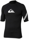 Quiksilver All Time Short Sleeve Men's Rashguard 50+ UV Protection - Black