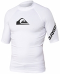 Quiksilver All Time Short Sleeve Men's Rashguard 50+ UV Protection - White