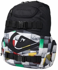 Quiksilver Derelict Back Pack Skate Board Backpack - Black/Rasta