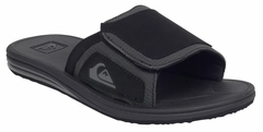 Quiksilver Fleet Slide Men's Sandal - Black/Grey