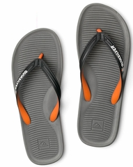 Quiksilver Haleiwa Men's Sandal Flip Flop - Grey/Black/Orange