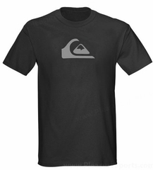 Quiksilver Logo T Shirt Grey Heather