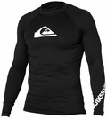 Quiksilver Men's ALL TIME Long Sleeve Rashguard 50+ UV Protection - Black