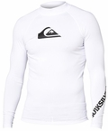 Quiksilver Men's ALL TIME Long Sleeve Rashguard 50+ UV Protection - White
