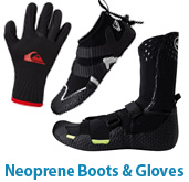 Quiksilver Neoprene Boots and Gloves